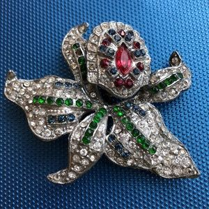Jewelry - Vintage Antique Trembler flower RS As Is